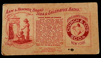 Blotter ARM & HAMMER BRAND SODA & SALERATUS BATHS Church & Dwight CUTE CHILDREN