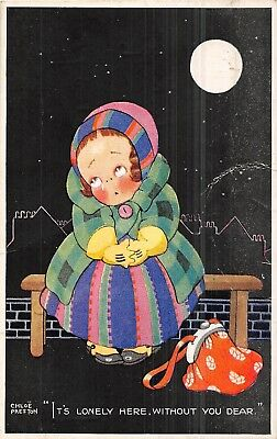 POSTCARD   CHILDREN    It's  lonely  here  ...... CHLOE  PRESTON
