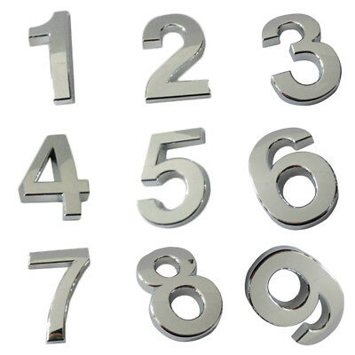 Hotel Door Number Sign House 0-9 Letters Letter Mail Box Office Plastic Plating