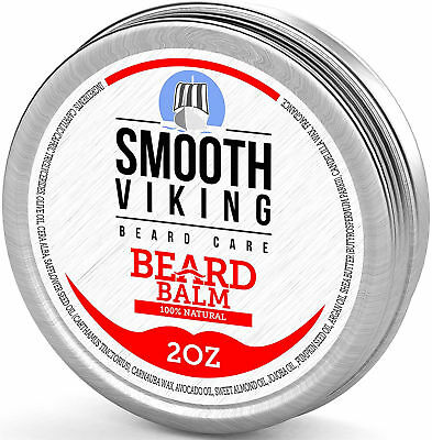 Beard Balm for Men Best Leave In Wax Beard Conditioner Shea Butter and Argan Oil