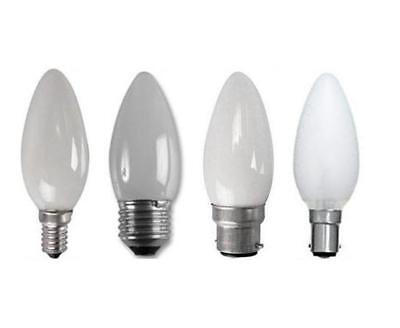 Pack of 10 Pearl Candle Lamp Light Bulbs 25W 40W 60W ES SES BC SBC Cap Chandelie