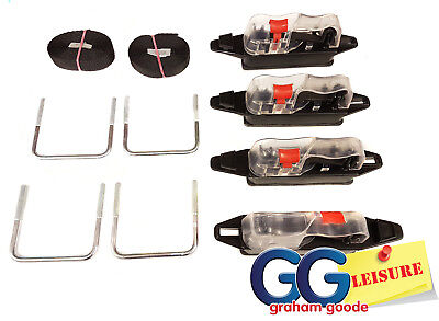 Thule Easy Snap Roof Box U Bolt Clamps 80mm Wide Fitting Kit   Upgrade