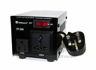 Goldsource ST-200 200 Watt Step Down/Up Voltage Converter