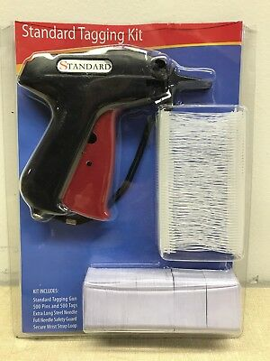 Clothing Garment Price Label Standard Tagging Tag Gun Kit with barbs & tags.