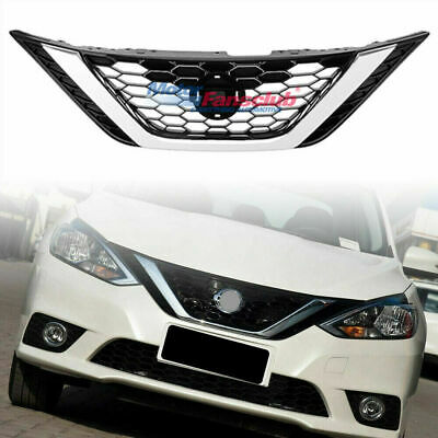 Chrome Abs Front Per Upper Grille Grill For Nissan Sentra 16 17 2016 2017
