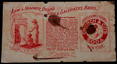 Blotter ARM& HAMMER BRAND SODA & SALERATUS BATHS