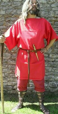 Roman Legionary Style tunic, Red, LARGE, Ideal for BRITANNA LARP or Rome cosplay