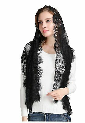 Luxurious Catholic Chapel Scarf Lace Chapel Veil Mantilla Infinity Latin Mass