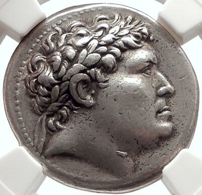 PERGAMON King ATTALUS I Ancient 241BC Tetradrachm Silver Greek Coin NGC i66893