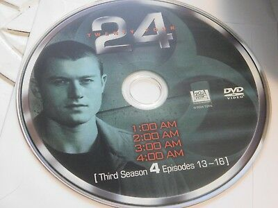 24 Third Season 3 Disc 4 Replacement DVD Disc Only 42-121