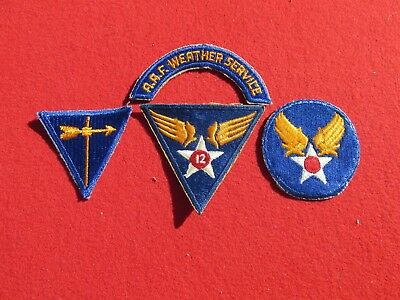 12 th AAF Weather patch Group  Weather Service Tab arc + 3 patches