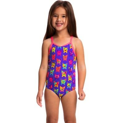 Funkita Pooch Party Toddler Girls Printed One Piece , Toddler Girls One Piece Sw
