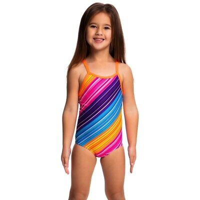 Funkita Fine Lines Toddler Girls Printed One Piece , Toddler Girls One Piece Swi
