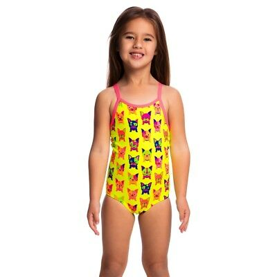 Funkita Hot Diggity Toddler Girls Printed One Piece , Toddler Girls One Piece Sw