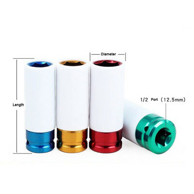 Colorful Sleeve Tire Protective Wall Deep Impact Nut Socket Alloy Wheel