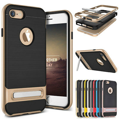 Slim Shockproof Silicone Case Cover with Hard Stand For Apple iPhone 6 6s Plus