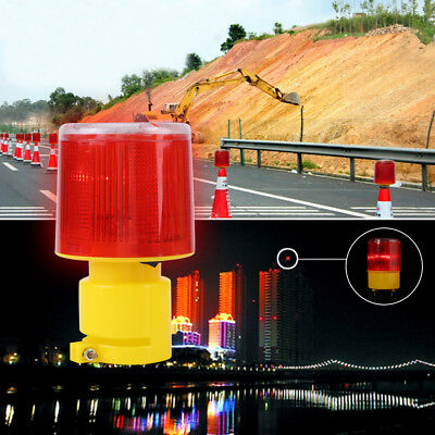 Car Boat Solar LED Emergency Warning Flash Red Light Strobe Beacon Alarm Lamp zg