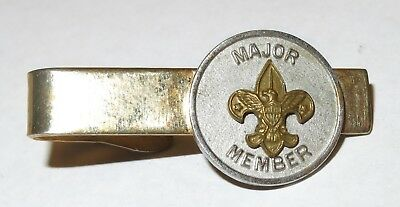 Vintage Boy Scouts America MAJOR MEMBER Tie Bar Clip by Robbins Co Attleboro