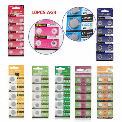 10PCS AG13 LR44 SR44 L1154 357 A76 Button Coin Cell Pack Alkaline Batteries AG4