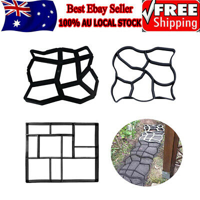 Path Maker Concrete Mould Paver Patio Garden Brick Slab Pavement Cement Mold