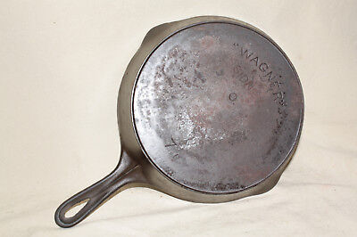 Wagner Sidney O No. 7B Cast Iron Pan W/ Heat Ring Arch Logo 8012