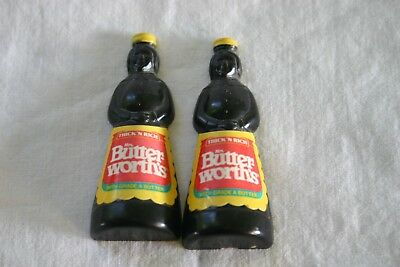 "Vintage Mrs. Butterworth's Syrup Magnets 2-3/4"" Tall Set of 2"