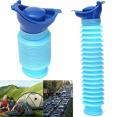 750ML Portable Urinal Camping Travel Car Urination Pee Toilet Urine Help Blue LJ