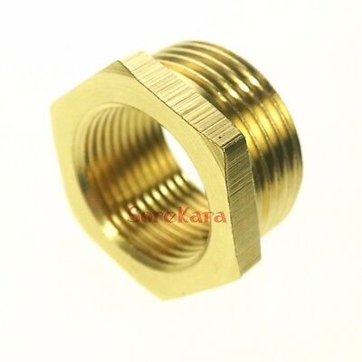 """LOT 5 3/4"""" BSP Male to 1/2"""" BSP Female Brass Reducer Reducing Bush Pipe Fitting"""