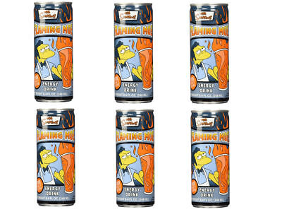 The Simpsons Flaming Moe Energy Drink Collectible Can Six Pack NEW SEALED