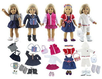 5set Cute Handmade Clothes Dress For Mini Kelly Mini Chelsea Doll Outfit JH