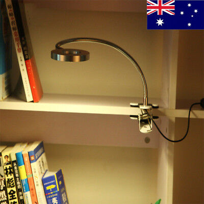7W Flexible Clip-on Table Lamp LED Clamp Reading/Study/Bed/Laptop/Desk Light
