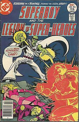 DC Comics SUPERBOY & The Legion of Super Heroes Issue 224 1977 **FREE POSTAGE**