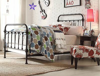 Wrought Iron Bed Frame Queen With Headboard And Footboard Set Antique Vintage