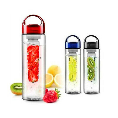 Fruit Infusing Infuser Water Bottle Sports Health BPA Free Juice Maker 750mL
