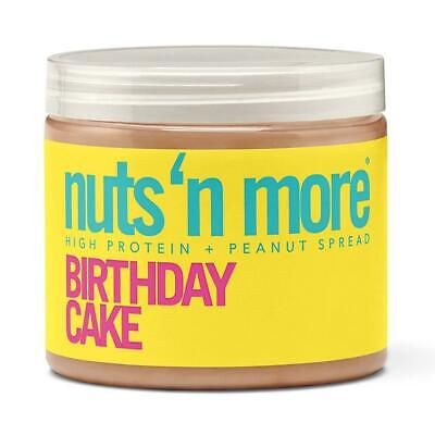 Nuts 'N More Birthday Cake Peanut Butter Spread 16oz High Protein CHOP