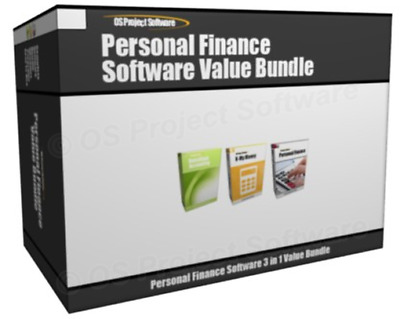 Value Bundle - Personal Finance Home Accounting Bookkeeping Software Program