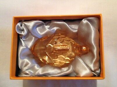 Nachtmann Zoo Fish Ornament, Figurine, Orange,  Lead Crystal 10 cm