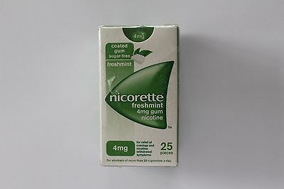 Nicorette Freshmint Flavour 4mg Sugar-Free Coated Gum - 25 Pieces