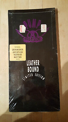 *NEW SEALED IN LONG BOX* Aerosmith CD Pump Leather Bound Limited Edition Geffen