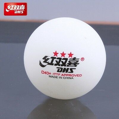 30 x DHS 3 Star D40+ Table Tennis Ball, 2017 CELL-FREE-DUAL, ITTF APPROVED, New