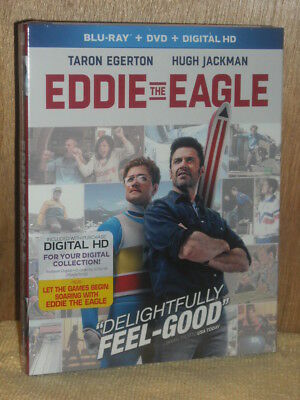 Eddie the Eagle (Blu-ray/DVD, 2016, 2-Disc Set) Taron Egerton Hugh Jackman