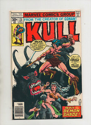 Kull The Conqueror #23 - Day Of The Demon-Shade - (Grade 7.5) 1977