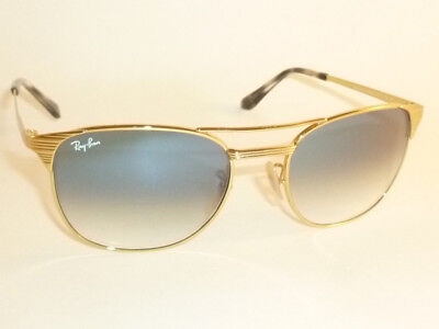 937210be96 New RAY BAN Sunglasses SIGNET Gold Frame RB 3429M 001 3F Gradient Blue Lens  55mm