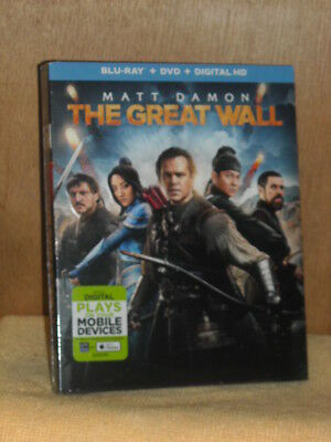 The Great Wall (Blu-ray/DVD, 2017) Matt Damon Tian Jing Willem Dafoe