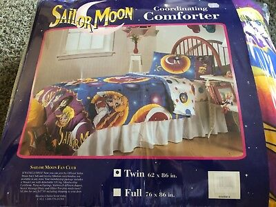 Vintage BRAND NEW 1995 Sailor Moon twin size comforter