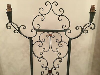 Wrought Iron Candelabra Lamp Stand