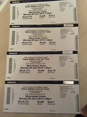Harry Styles Tickets x4