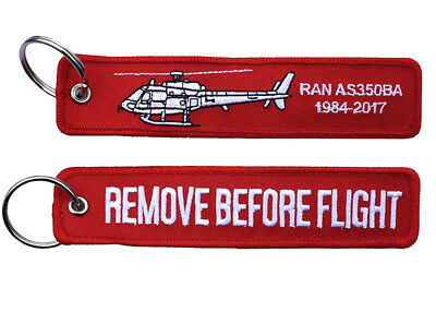 723 Squadron AS350BA End of Era Remove Before Flight Key Ring Luggage Tag - New
