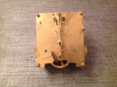 Antique Clock Movement Chiming 11x10cm Plates Untested For Spare Parts Repair