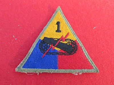 WW2 Repro US Patch Badge Uniform Insignia 1st Armored Division Old Ironsides